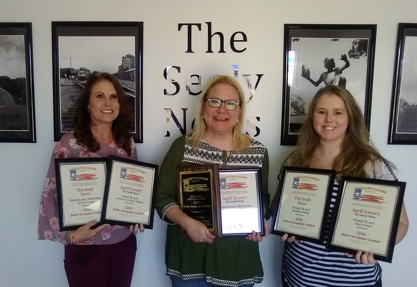 The Sealy News was honored with five major awards on Friday at the South Texas Better Newspaper Contest in Kerrville.