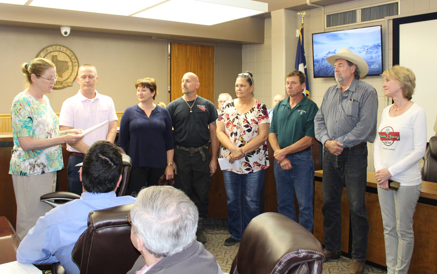 Members of the Sealy business community were recognized for National Small Business Week during the April 24 Sealy City Council meeting.