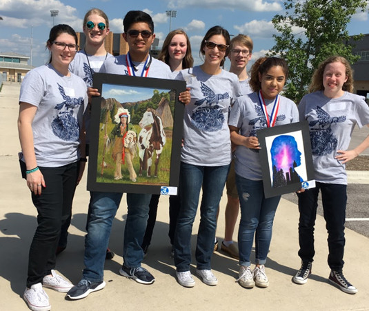 Khokdker Salim (10th grade) and Priscilla Barboza (12th grade) competed at the State Visual Arts Scholastics Event in San Marcos recently and were awarded gold medals.