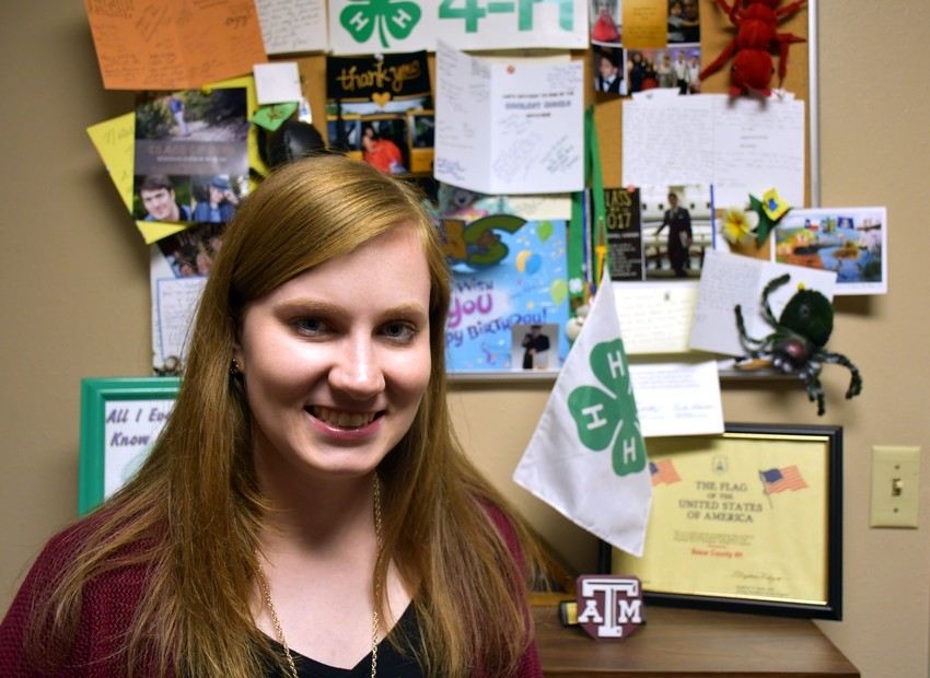 Caroline McLaren is the new assistant agent for 4-H youth development at the Texas A&M AgriLife Extension Service office in Bexar County.