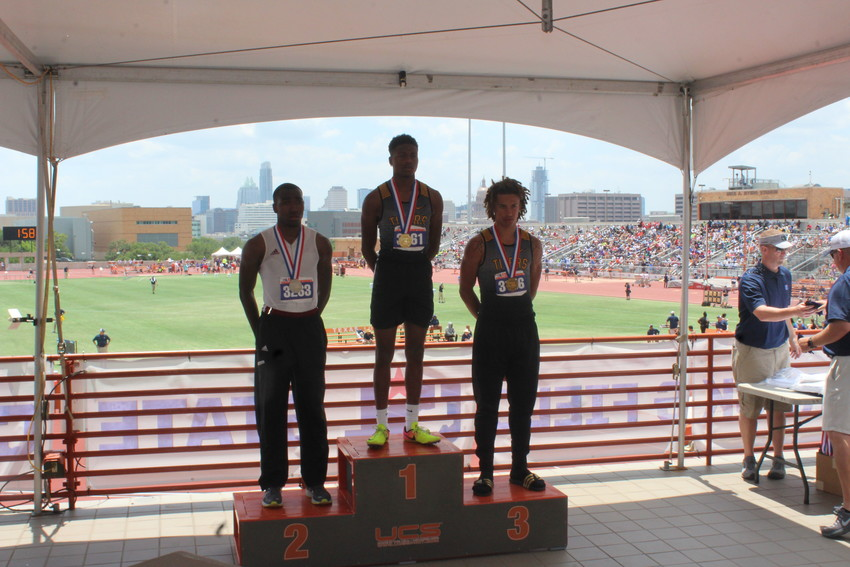 Sealy sent five athletes to compete in the state track meet with Tyrek McNeese winning two medals and Ivan Bolden winning bronze in the triple jump.