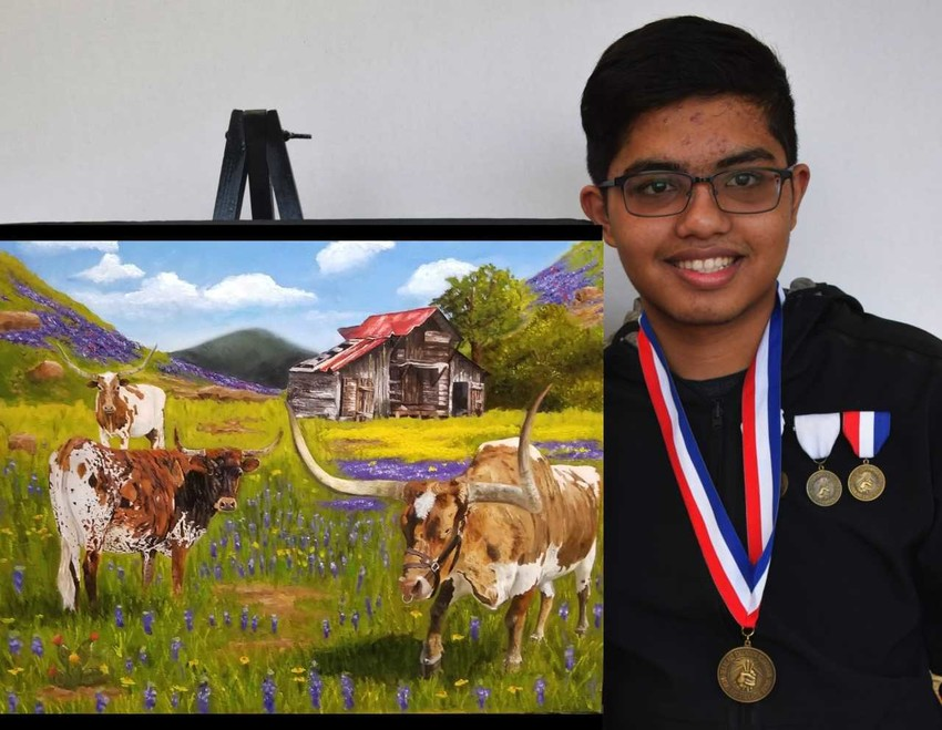 Khondker Salim's original artwork was selected for presentation at the U.S. Capitol.