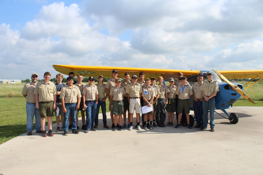 Sealy's Troop No. 548 spent the day at Gloster Airport so the scouts could earn their aviation badges.