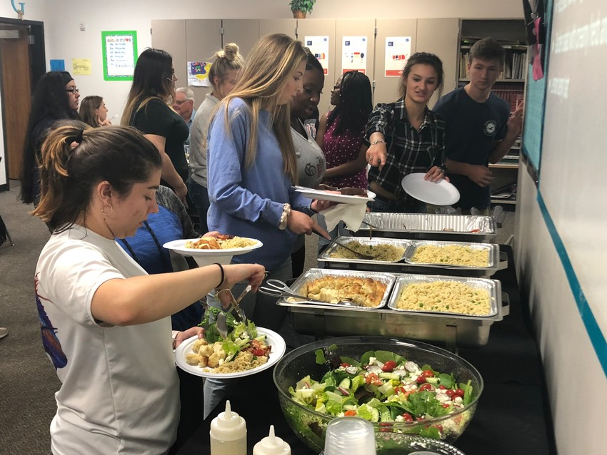 Students from two different culinary classes partook in the first-ever Harvest Lunch celebration where the food was made from their eight-week garden program.