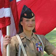Hailey Keeling is commander of the Navy Junior ROTC at Glenda Dawson High School in Pearland.