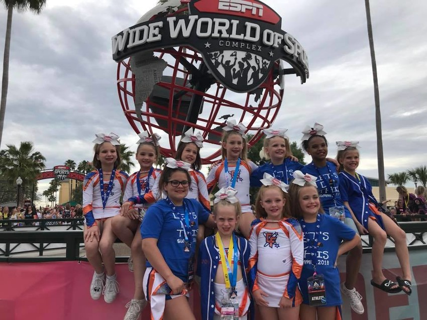 The Royal Divas were just one of the teams who competed in the D2 Summit cheerleading competition in Orlanda, Fla. last month for the Cheer Factory and finished 14th in the nation.