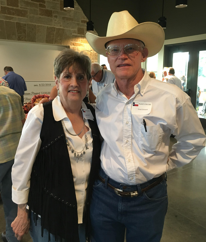 Pictured are Betty and Fred Strauss at an event over the weekend at the San Felipe de Austin Museum.