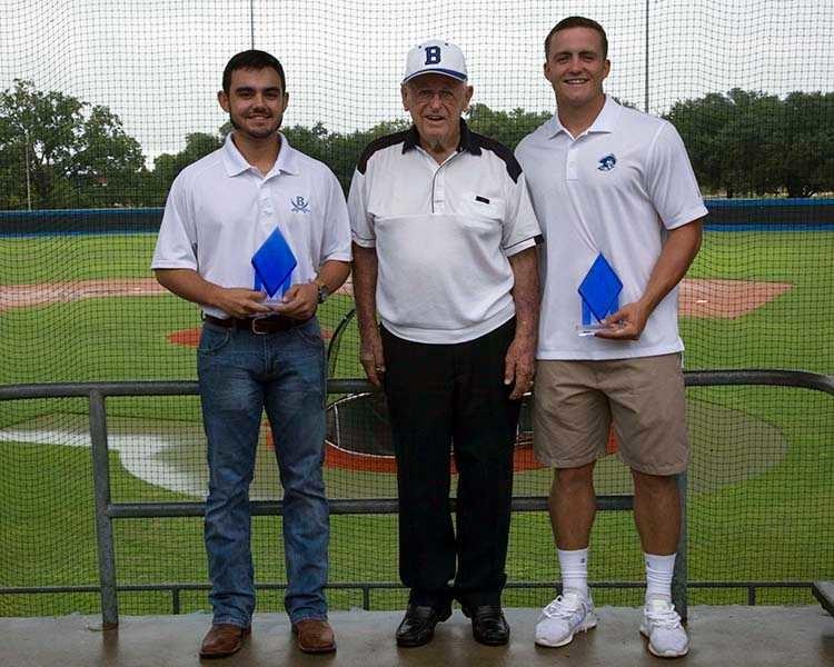 Blinn College baseball players Kyle Gray and Brandon Ashy were named co-winners of the 2018 Leroy Dreyer MVP Diamond Award.