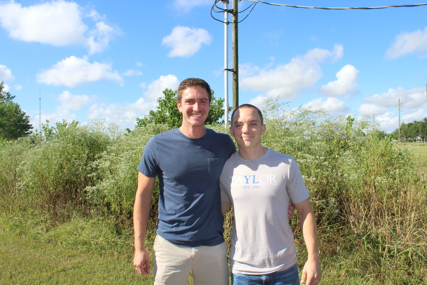 Ryan Pacher, left, and Collin Dwigans are holding an informational meeting Sept. 9 to discuss plans for a Young Life youth ministry in Sealy.