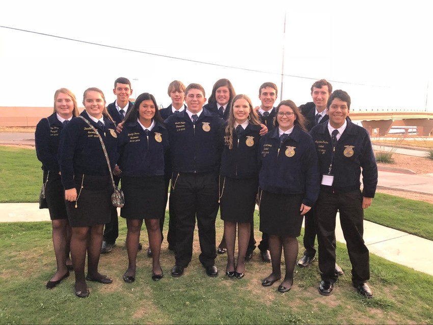 Several Sealy FFA students recently attended the state convention in Fort Worth.