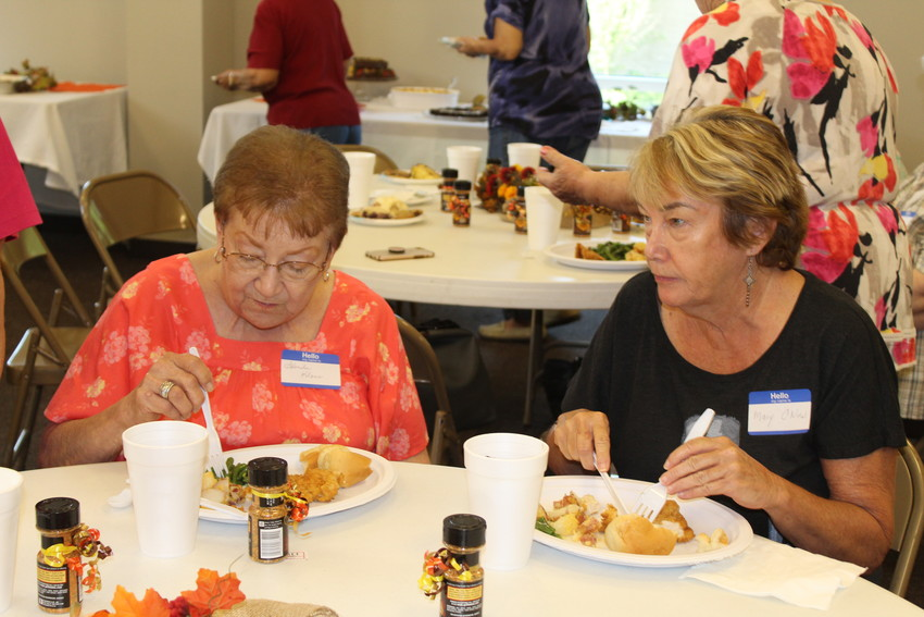 Volunteers who donate their time to the Sealy Christian Food Pantry were honored with a luncheon at First Baptist Church last week.