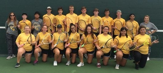 Team tennis had yet to reach the district finals before this year.