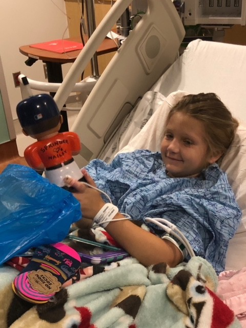 Hailey Svoboda was still all smiles after receiving some gifts before her surgery despite being in the hospital facing one of the biggest challenges in her life.