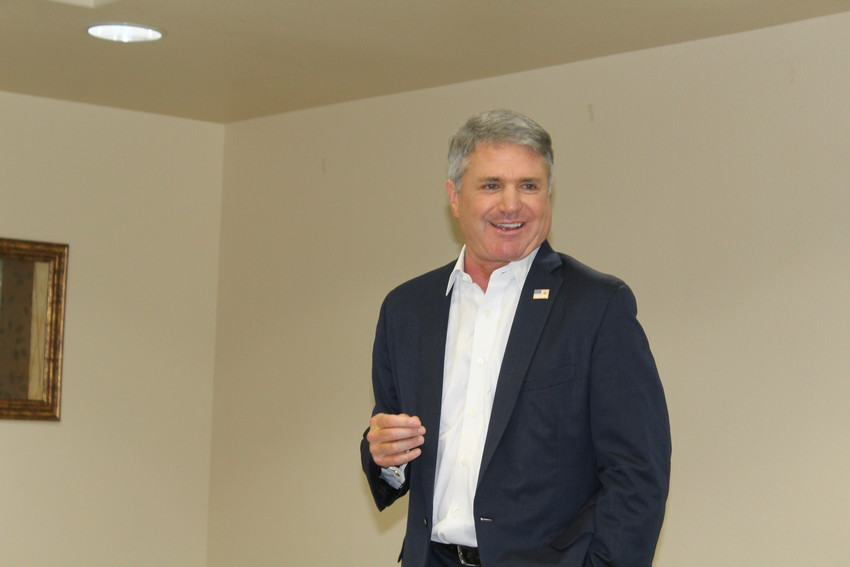U.S. Rep. Michael McCaul, R-Texas, addresses the Sealy Chamber of Commerce during an Oct. 10 lunch meeting.