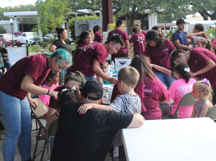 The Sealy High School Interact Club took care of face-painting duties all night long with over 20 representatives.