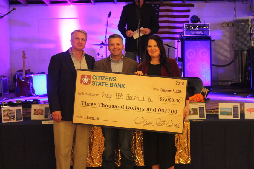 Citizens State Bank started things off with a $3,000 donation.