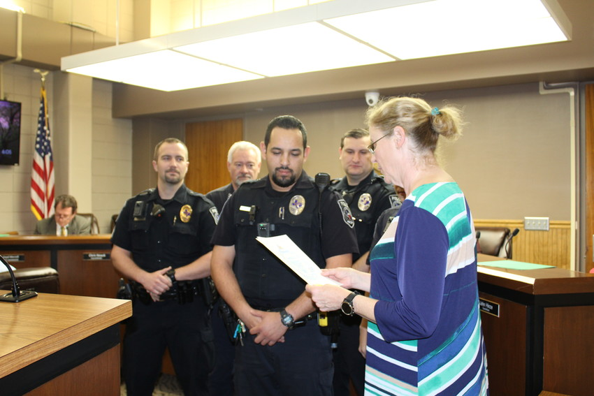Members of the Sealy Police Department accepted a proclamation for National Law Enforcement Appreciation Day during a Jan. 8 city council meeting.