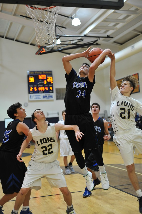 Kaleb Shepherd (34) poured in 15 points to lead the scoring efforts for Faith Academy although it would not be enough to topple the host Lions from Alpha Omega Academy.