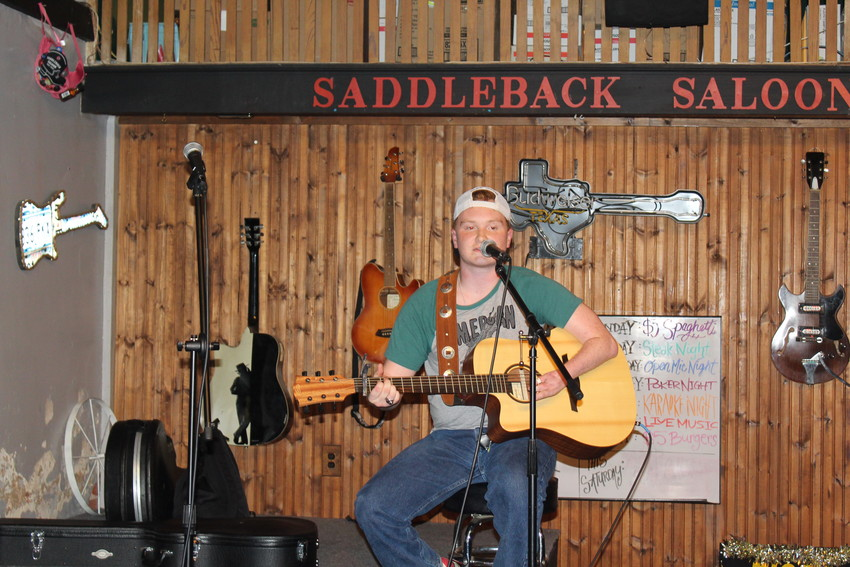 High school student Aaron Ward competed in the Jan. 23 show at Saddleback Saloon.