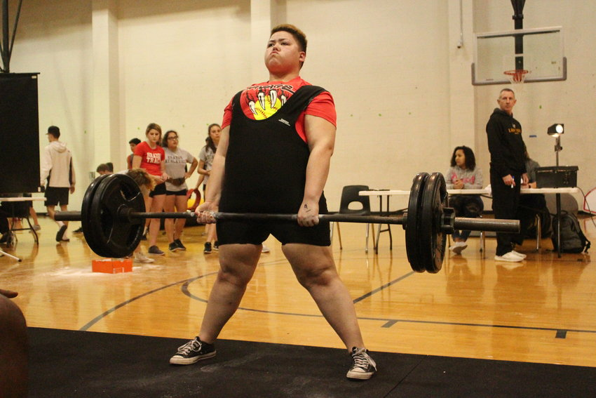 Sabrina Terrill finished the afternoon having lifted the most amount of weight for a female competitor with a 655-pound total when it was all said and done. Two other Lady Tigers took up the other top-three spots, helping Sealy cruise ahead.
