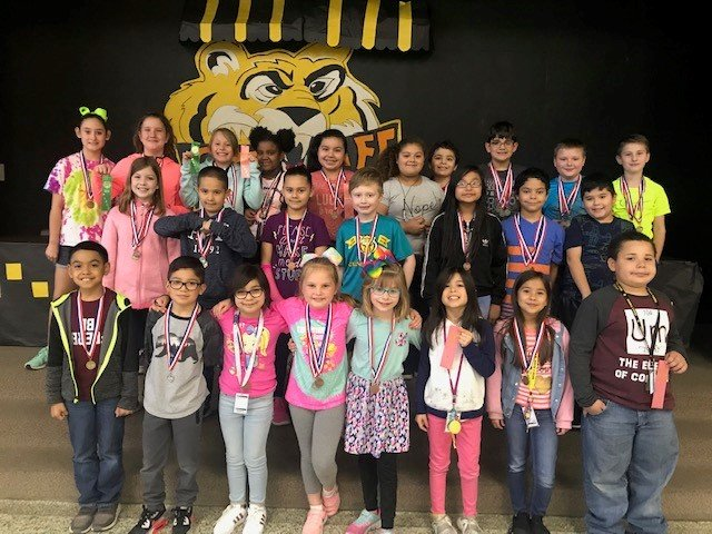 Pictured are the UIL winners from Maggie B. Selman Elementary.