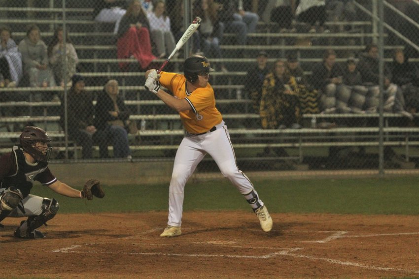 Chaplin Moore (6) was one of four Tiger hitters to bring in a run against rival Bellville, helping Sealy notch another win over the Brahmas.