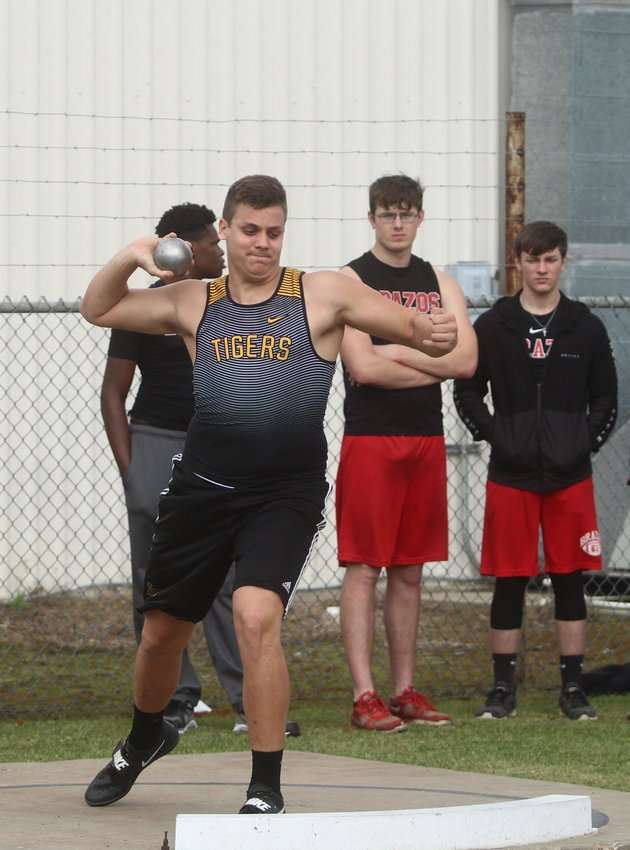 Luke Thielemann grabbed fourth in the shot put and took home another discus title from Bellville, his third in as many meets so far.