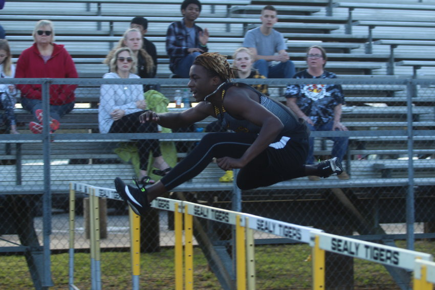 Draper Parker was the highest scoring male participant in the Royal Relays, taking first in the triple jump and 300-meter hurdles as well as second in the 110-meter hurdles.