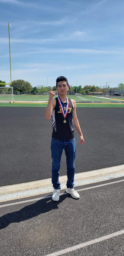 Amador Lopez grabbed a school record at last week's junior high meet at T.J. Mills Stadium, breaking a two-year-old record.