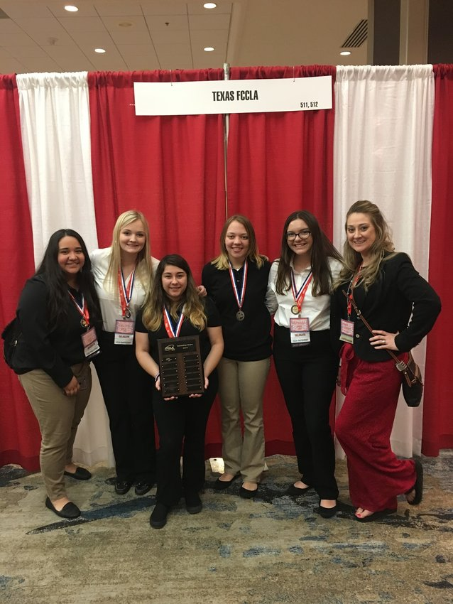 The FCCLA team brought back multiple awards from state competition and have already started preparing for next year's trip. Pictured from left are Cielo Guerrero, Kaley Chaney, Joanna Posada, Haley Coronis, McKenzie White and advisor Angela Gutowsky. Not pictured are Tiffany Sodolak, Madison Montier, Courtney Dziadek and Leigh Catiller.