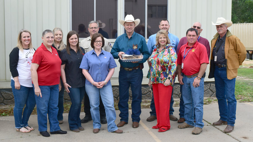 First National Bank of Bellville provided the Austin County Sheriff's Office with a cookie tray as a thank you for service to the community on April 12.