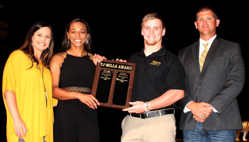 Makaylah Scott and Derek Bollinger, T.J. Mills Award
