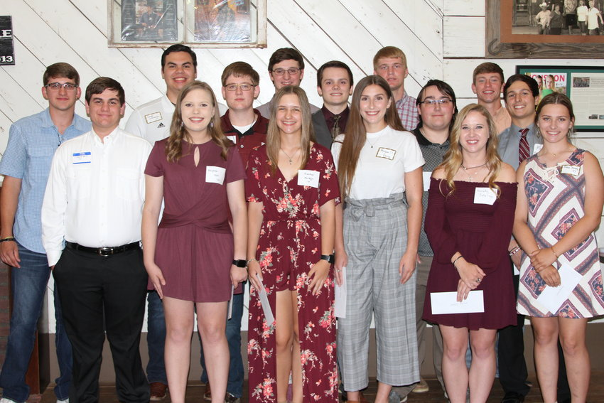 Pictured are the recipients of scholarships from the Austin County A&M Club.