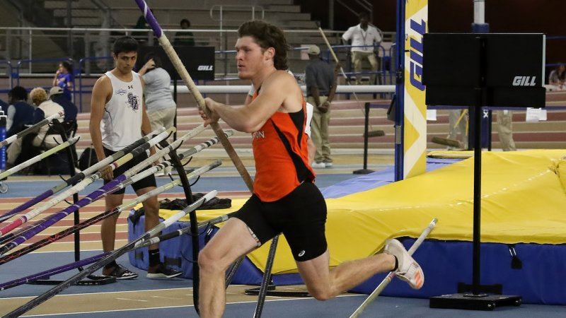 Clayton Fritsch cemented his name further in Sam Houston State track and field history and was awarded Conference field athlete of the week for his efforts.
