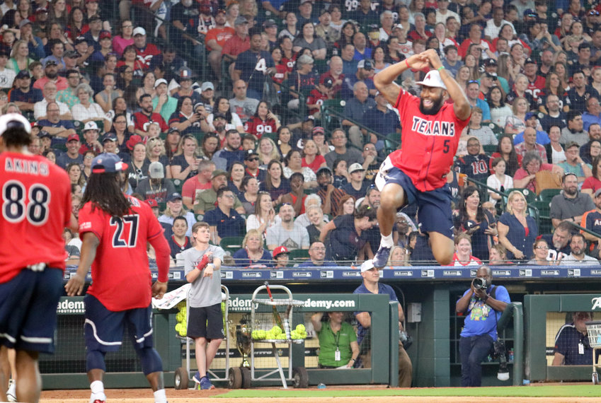 A five-run first inning was emphasized with Joe Webb III's leap into home plate.