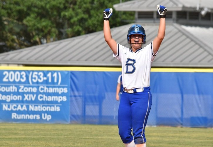 Bailey Zibelin collected three RBI and scored two runs in the first game of the Region XIV Softball Tournament to help her Bucs beat Kilgore College, 9-0.