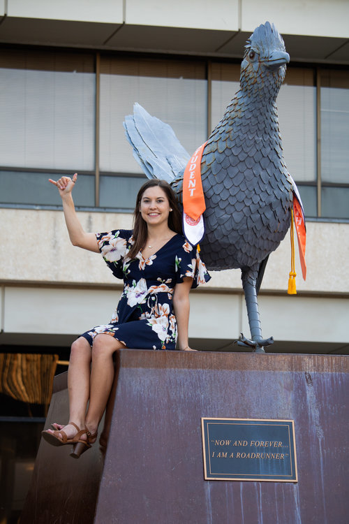 She made her choice and stuck with it, even through hardship, and now Charlette Janicek is forever a University of Texas at San Antonio Roadrunner.