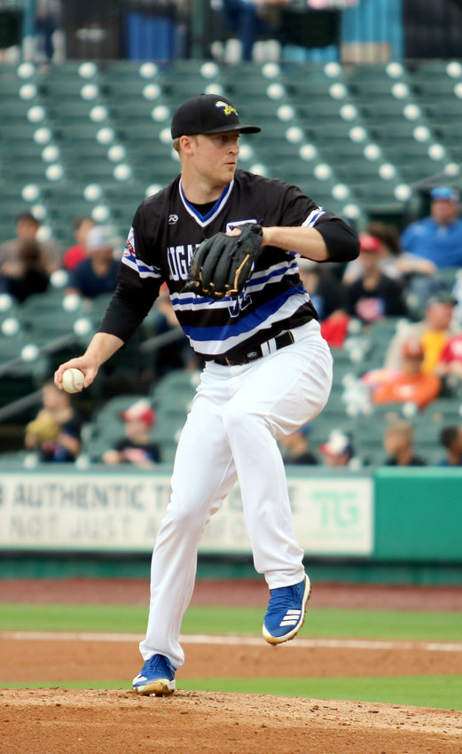 Skeeters pitcher Dallas Beeler delivers a throw Saturday during a game against the Long Island Ducks. Beeler didn't get a decision in the game but is 2-0 on the season with three starts.