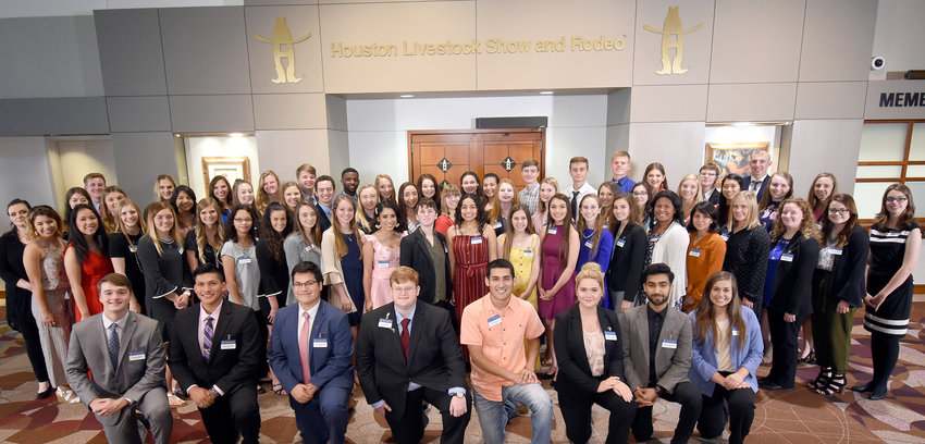 Houston Livestock Show and Rodeo officials presented 79 students from across Texas with nearly $1.6 million in scholarships during the Area Go Texan Scholarship Banquet.