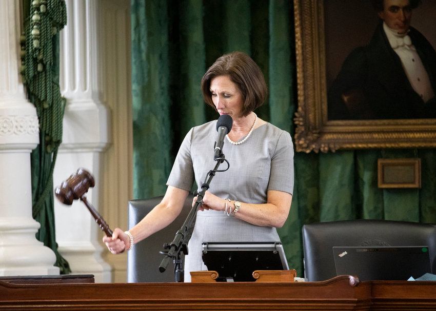Sen. Lois Kolkhorst was busy in the 86th legislation session, here she bangs the gavel after a committee meeting.
