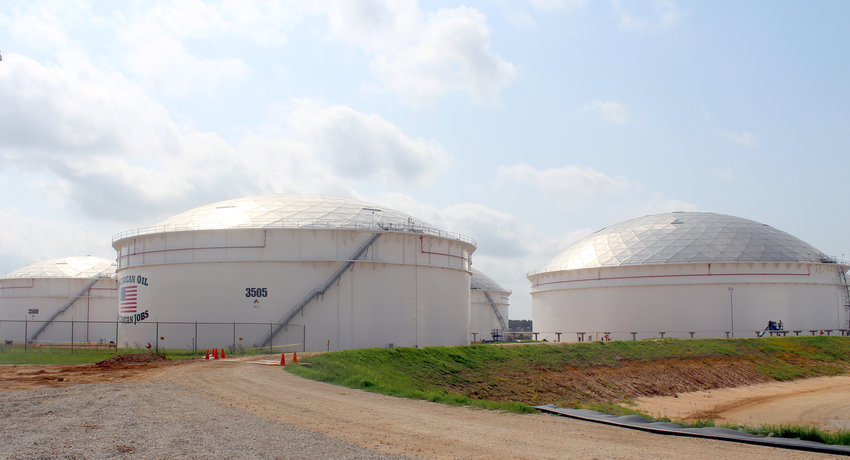 A spokesperson for Enterprise Products, which operates these oil storage tanks in Sealy, said he was unaware of plans to build a new crude oil pipeline to Sealy.