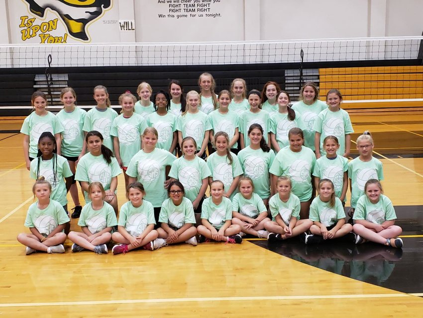 The Sealy Lady Tiger volleyball camp at the high school came to an end last week and the student-athletes were awarded commemorative t-shirts leading up to the next year of volleyball which is just around the corner.