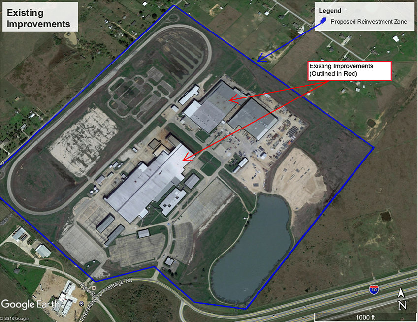 This map shows the location of the former BAE Systems property that is now owned by Hailiang Copper Texas.