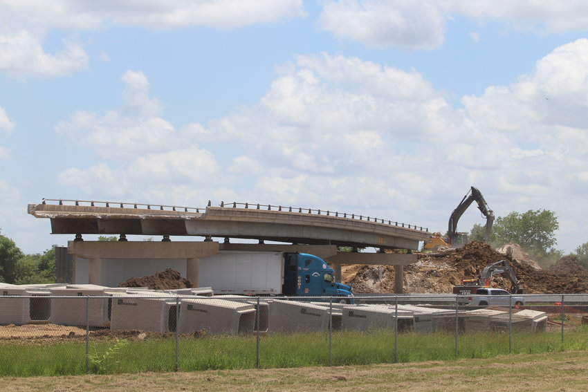 This bridge's destruction on Rexville Road behind Sealy High School over I-10 is just one piece of work being done by TxDOT to expand the highway.