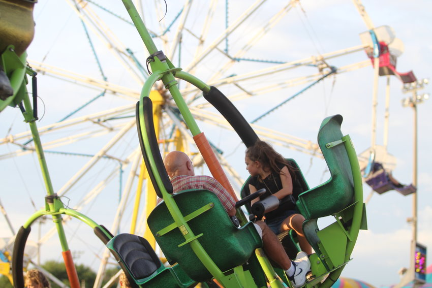 Carnival rides helped captivate the attention of children all weekend.