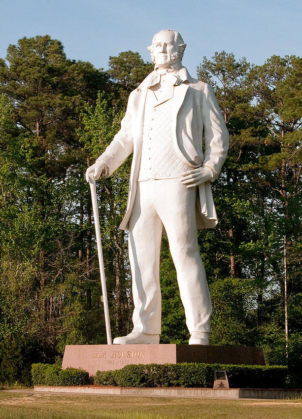 """A Tribute to Courage"" honors Sam Houston, the general who won independence of Texas from Mexico and served as its president, governor and senator when it became a state."
