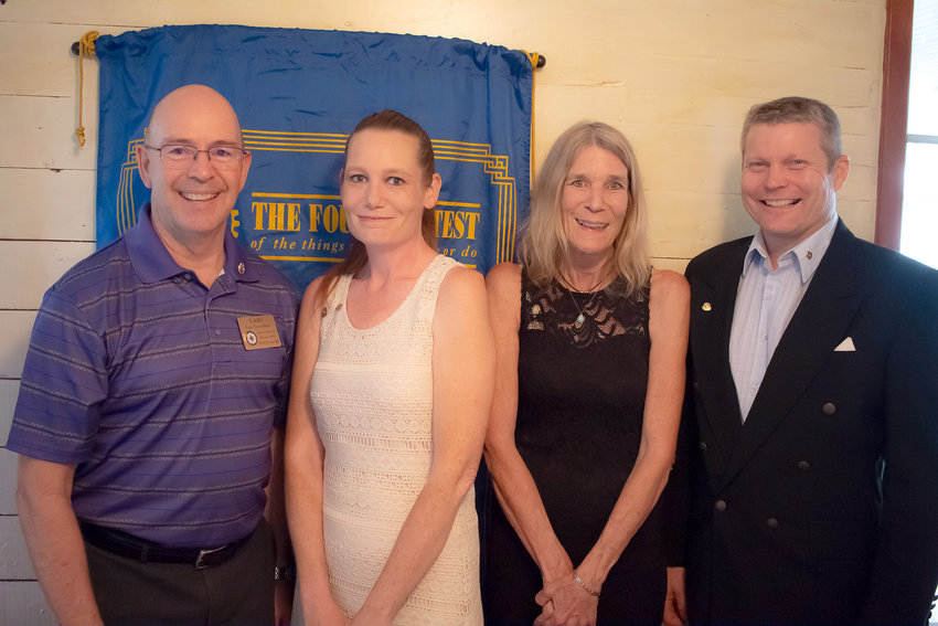 The new officers of the Rotary Club of Sealy include President Becky Funk, President-elect Russ Rainwater, Secretary and Past President Cortni Breman, Treasurer Paul Dronka, and Kimberly Avilez as Rotarian of the Year for 2018-2019.