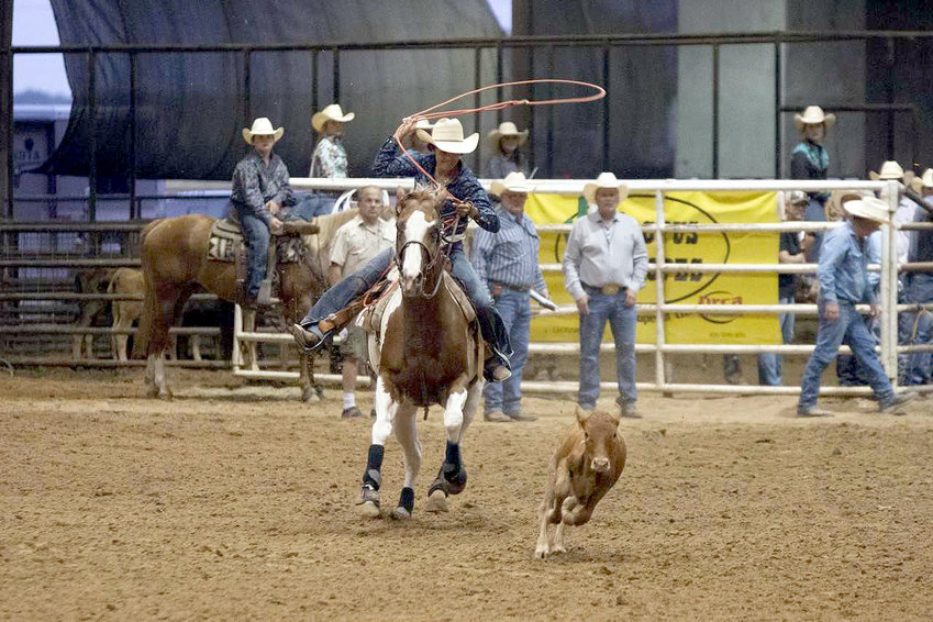 Jaz Tomlinson competed in goat tying and junior girls breakaway last week during the Texas Youth Rodeo Association state finals in Gonzales.