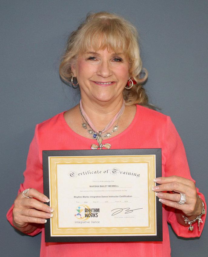 Marsha Bailey Merrell, the newest certified Integrative Dance Instructor.