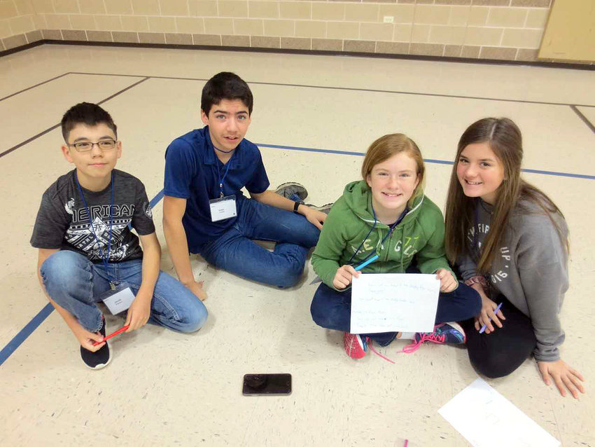 Youngsters participate in Community Bible Study activities.